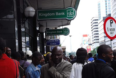 Bank queue (file photo).
