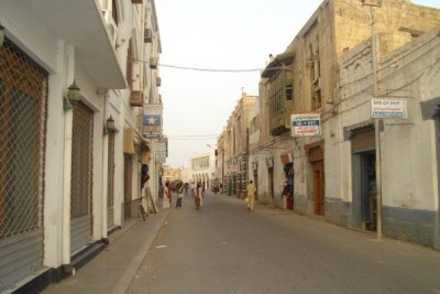 <strong>A street alley near the Mercato (market) on a Sunday in Asmara.</strong>