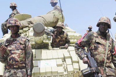 UPDF peacekeepers serving in Somalia. The US govt has been paying Uganda to arm Somali govt fighters.