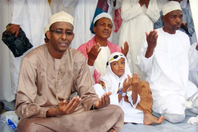 Muslims in Mombasa say prayers for Eid (file photo).