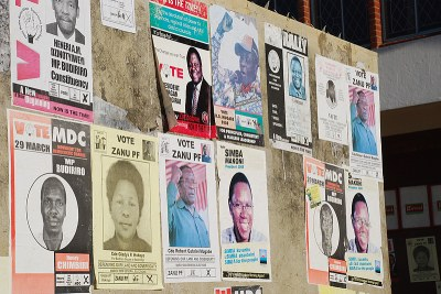 Election posters (file photo).