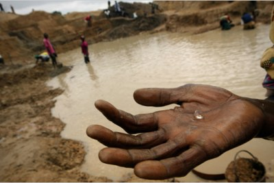 Diamond mining in Marange fields.