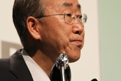 UN general secretary Ban Ki-Moon.