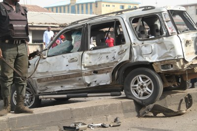 A car affected by an explosion (file photo).