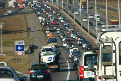 Traffic in Johannesburg (file photo).