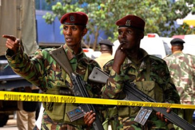 Police officers in Nairobi, Mombasa, Eldoret, Nakuru and some other parts of the country had staged a go-slow (file photo).