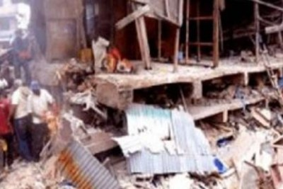 A three-storey building collapsed