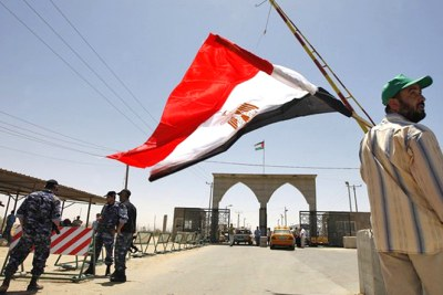 The Rafah Border crossing on the border between Egypt and the Gaza.