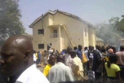 Attacked church in Nigeria