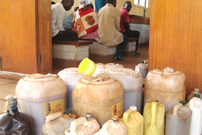 Containers of illicit brew in Embu, Kenya (file photo).