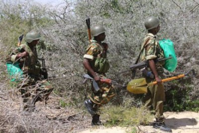 Kenya Defence Forces have been fighting al-Shabaab since October 2011(file photo).