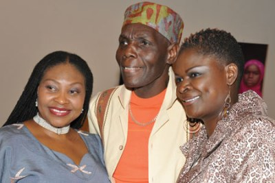 South Africa's Yvonne Chaka Chaka, Oliver Mtukudzi of Zimbabwe and Suzanna Owiyo from Kenya