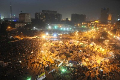 Protesters gather at Tahrir square during a demonstration against president Muhammad Morsi in Cairo.