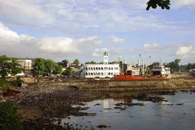 Moroni with Harbor Bay and Central Mosque, Capital of the Comoros