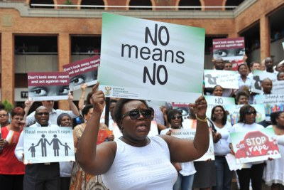 A rally against rape and abuse in South Africa