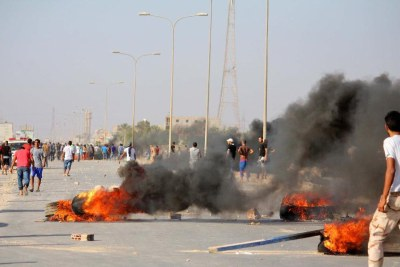 Scenes of previous clashes in Benghazi (file photo).