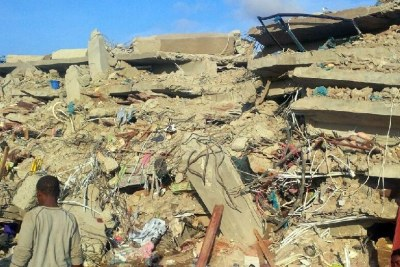 The general overseer of the Synagogue Church of All Nations, Pastor Temitope Joshua, has blamed the collapse, which has killed 17 people and injured several, on a