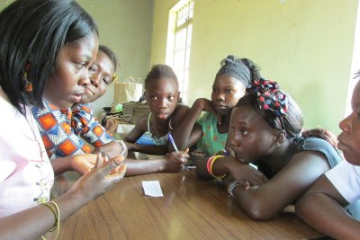 Mentoring young girls on relationship (file photo).