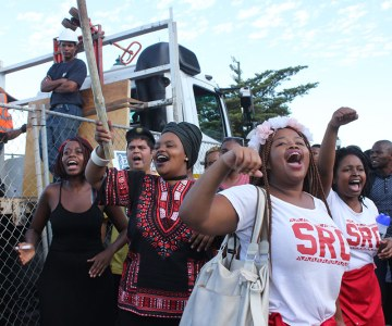 South African Students Celebrate Removal of Rhodes Statue