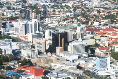 View of the Namibia capital city, Windhoek.