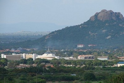 View of Bunge Buildings in Dodoma City.