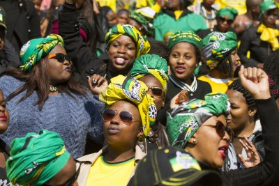 ANC supporters (file photo).