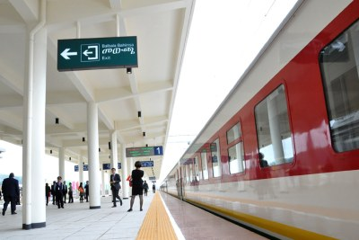 The launch of the Ethiopian-Djibouti railway (file photo).