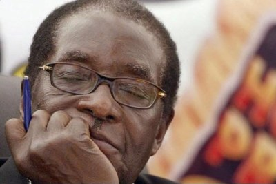 Robert Mugabe napping.