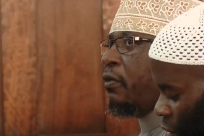 Sheikh Kamoga in court.