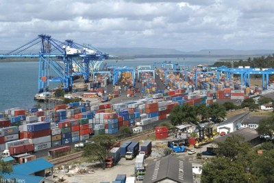 Mombasa Container Terminal: Kenya Ports Authority senior officials were in Rwanda recently to explore ways of boosting cooperation with Rwandan traders. (file photo)