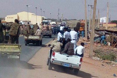 Army convoy in North Darfur