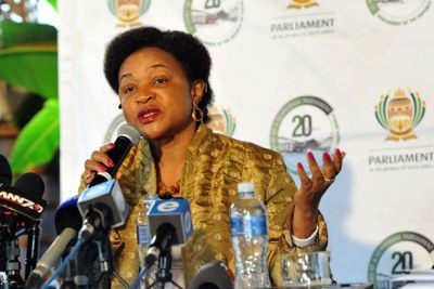 Parliamentary Speaker Baleka Mbete (file photo).