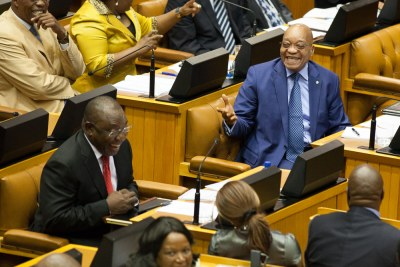 President Jacob Zuma in Parliament (file photo).