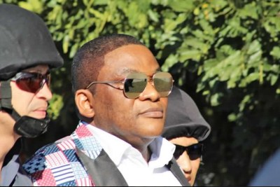 Nigerian Pastor Timothy Omotoso escorted by South African police (file photo).