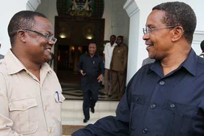 Singida East Member of Parliament and Tundu Lissu and former President Jakaya Kikwete (file photo).