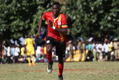 Derrick Nsimbabi scored for Cranes in Bukedea.