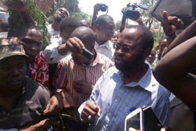 Kisumu Governor Anyang' Nyong'o joins demos in the lakeside town (file photo).
