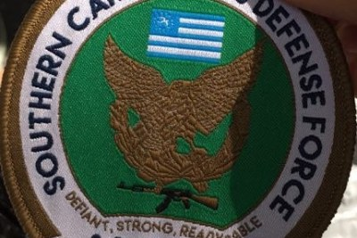 The insignia of the rebel Southern Cameroon Defence Force.