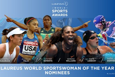 Olympic and world 800-metre champion Caster Semenya is South Africa's only nominee for the 2018 Laureus World Sports Awards. Semenya is up for honors in the World Sportswoman of the Year category and is up against Wimbledon champion Garbiñe Muguruza and an all-American quartet of Australian Open champion Serena Williams, 16-time world athletics championship medalist Allyson Felix, 19-year-old swimming sensation Katie Ledecky, and overall World Cup champion skier Mikaela Shiffrin.