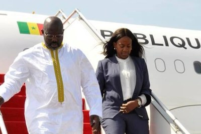 President Weah and First Lady Clar Weah