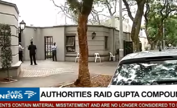 Law enforcement swoop in on Guptas' Saxonwold compound