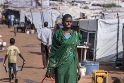 Internally displaced person camps, like this one in Juba, were established across South Sudan following the eruption of civil war in December 2013.