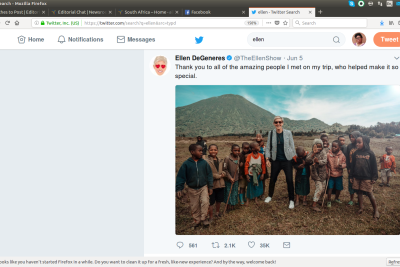 Was This Ellen DeGeneres Photo With Rwandan Children Poverty Porn?