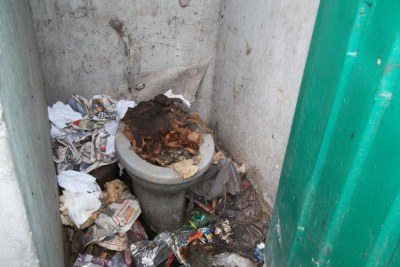 Some of the toilets in Shukushukuma informal settlement are unusable.