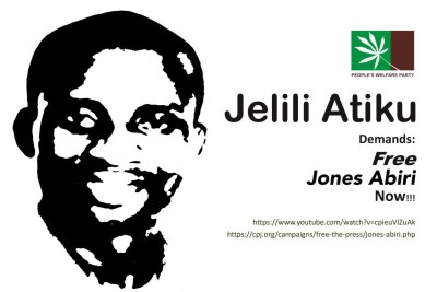 Jones Abiri has been detained, without charge, since 21 July 2016.