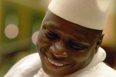 Le Président Gambien Yayah Jammeh