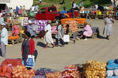 A market in Mbabane, Swaziland.