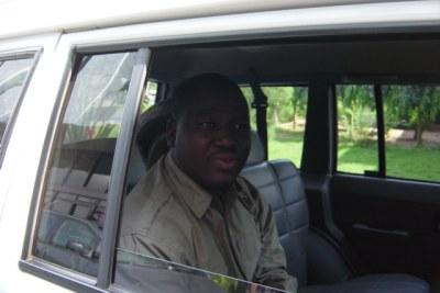 (Photo d'archives) - Guillaume Soro, chef rebelle civil aux pourparlers de paix de Côte d'Ivoire à Lomé.