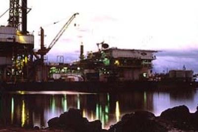 A Nigerian oil drilling rig.