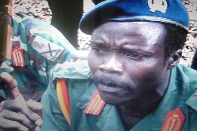 LRA leader Joseph Kony at talks in southern Sudan.